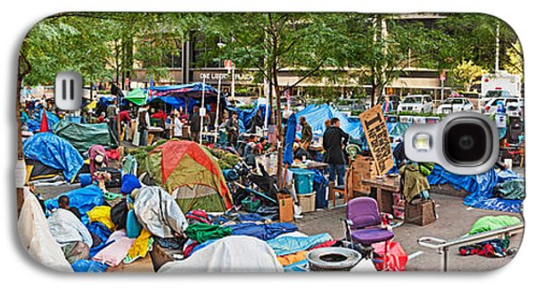Occupy Galaxy S4 Cases - Occupy Wall Street At Zuccotti Park Galaxy S4 Case by Panoramic Images