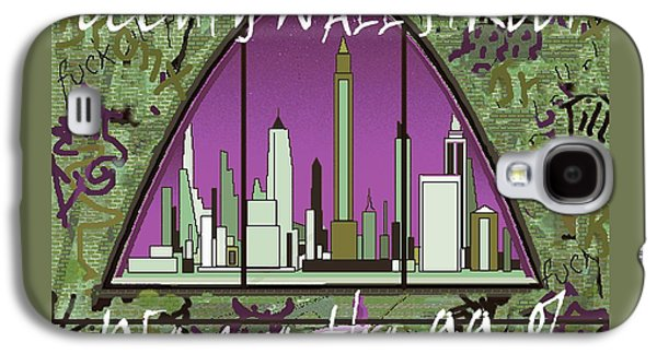 Occupy Wall Street 99 Percent - Graffiti Art Poster Galaxy S4 Case by Art America Online Gallery
