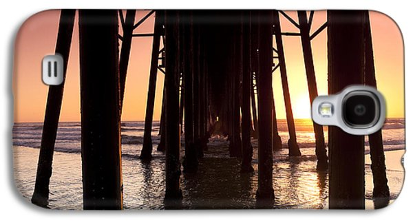 Sunset Framed Prints Galaxy S4 Cases - Oceanside Pier Tunnel Galaxy S4 Case by Sean Davey
