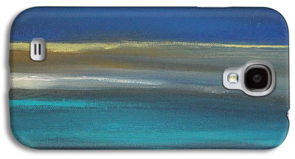 Blue Abstracts Galaxy S4 Cases - Ocean Blue 2 Galaxy S4 Case by Linda Woods