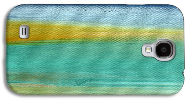Sun Mixed Media Galaxy S4 Cases - Ocean Blue 3 Galaxy S4 Case by Linda Woods