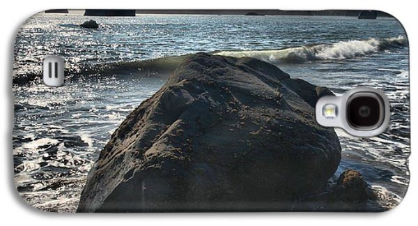 Foggy Beach Galaxy S4 Cases - Ocean Boulder Galaxy S4 Case by Adam Jewell