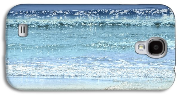 Colorful Abstract Galaxy S4 Cases - Ocean colors abstract Galaxy S4 Case by Elena Elisseeva