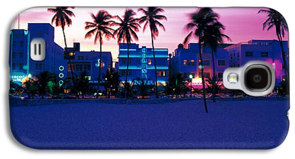 Building Exterior Galaxy S4 Cases - Ocean Drive Miami Beach Fl Usa Galaxy S4 Case by Panoramic Images