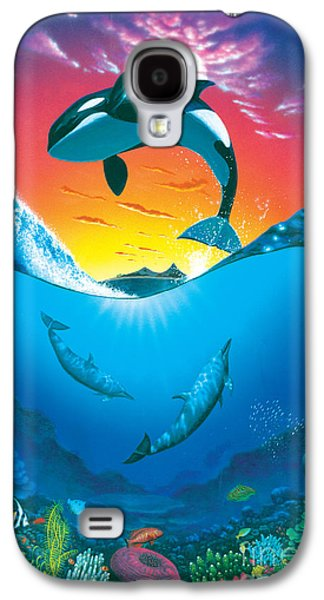 Dolphin Galaxy S4 Cases - Ocean Freedom Galaxy S4 Case by MGL Studio - Chris Hiett