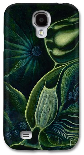 Plankton Paintings Galaxy S4 Cases - Ocean Mother Galaxy S4 Case by Lyn Pacificar