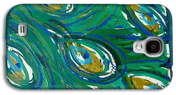 Ocean Peacock Galaxy S4 Case by Jennifer Schwab