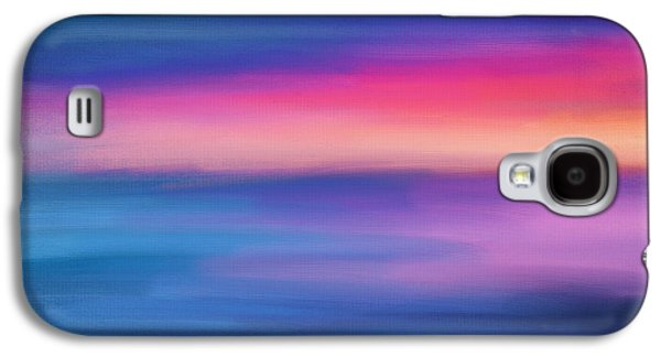 Sunset Abstract Galaxy S4 Cases - Ocean Rises Galaxy S4 Case by Lourry Legarde