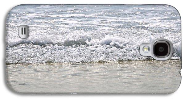 Sparkling Galaxy S4 Cases - Ocean shore with sparkling waves Galaxy S4 Case by Elena Elisseeva