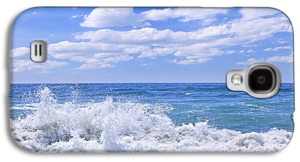 Beach Landscape Galaxy S4 Cases - Ocean surf Galaxy S4 Case by Elena Elisseeva