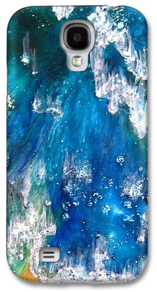 Indian Ink Mixed Media Galaxy S4 Cases - Ocean Surf Galaxy S4 Case by Jane Biven
