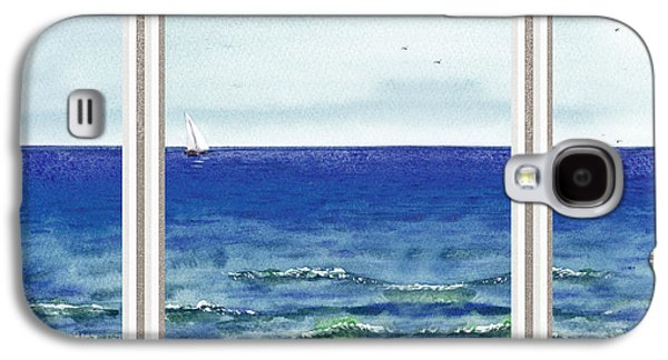 Ocean Sailing Galaxy S4 Cases - Ocean View Window Galaxy S4 Case by Irina Sztukowski