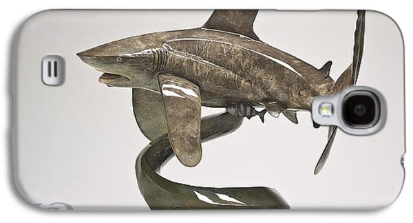 Sharks Sculptures Galaxy S4 Cases - Oceanic Whitetip Galaxy S4 Case by Victor Douieb