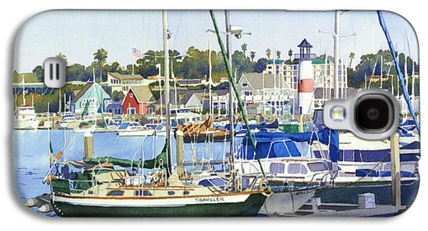 Harbor Paintings Galaxy S4 Cases - Oceanside Harbor Galaxy S4 Case by Mary Helmreich