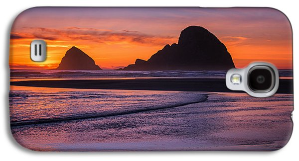Landscape Acrylic Prints Galaxy S4 Cases - Oceanside Sunset Galaxy S4 Case by Darren  White