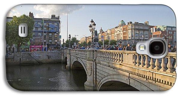 Glass Reflecting Galaxy S4 Cases - OConnell Bridge Dublin Ireland Galaxy S4 Case by Betsy A  Cutler