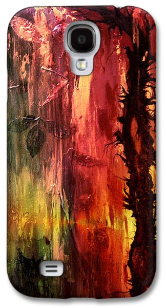 Abstract Digital Mixed Media Galaxy S4 Cases - October Abstract Galaxy S4 Case by Patricia Motley