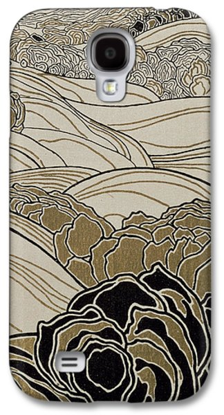 Autumn Landscape Drawings Galaxy S4 Cases - October Galaxy S4 Case by Adolf Bohm