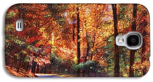 Road Paintings Galaxy S4 Cases - October Colors Galaxy S4 Case by David Lloyd Glover