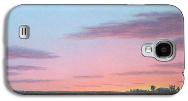 Farm Fields Paintings Galaxy S4 Cases - October Cotton Galaxy S4 Case by James W Johnson