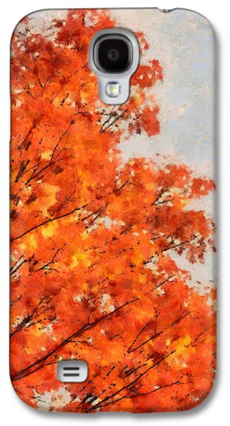 Comfort Paintings Galaxy S4 Cases - October Orange Galaxy S4 Case by Dan Sproul