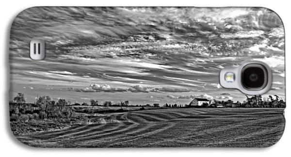 Steve Harrington Galaxy S4 Cases - October Patterns bw Galaxy S4 Case by Steve Harrington