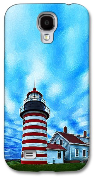Coastal Maine Galaxy S4 Cases - October Sky at Quoddy Head Enhanced Galaxy S4 Case by Bill Caldwell -        ABeautifulSky Photography