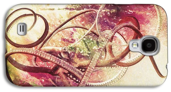 Colored Pencil Abstract Drawings Galaxy S4 Cases - Octopus Galaxy S4 Case by Taylan Soyturk