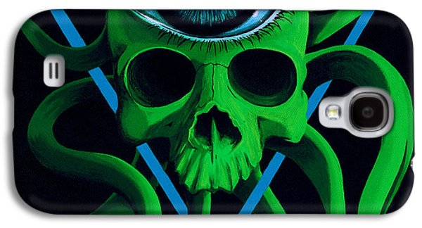 Trippy Paintings Galaxy S4 Cases - Ocupus Galaxy S4 Case by Steve Hartwell