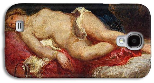 Delacroix Galaxy S4 Cases - Odalisque Galaxy S4 Case by Ferdinand Victor Eugene Delacroix