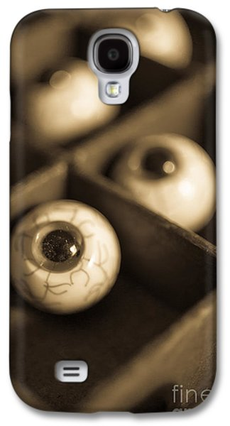 Creepy Galaxy S4 Cases - Oddities Fake Eyeballs Galaxy S4 Case by Edward Fielding
