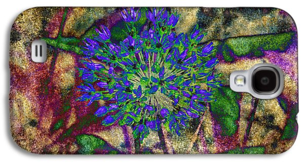 Flora Mixed Media Galaxy S4 Cases - Ode To A Flower The Abstract Galaxy S4 Case by Andee Design