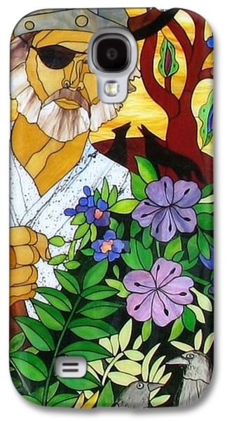 God Glass Art Galaxy S4 Cases - Odin Galaxy S4 Case by Suzanne Tremblay