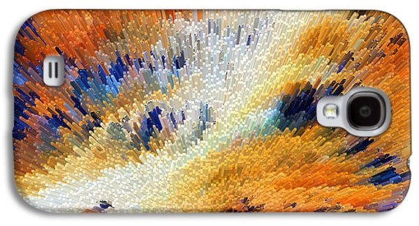 Earth Tones Galaxy S4 Cases - Odyssey - Abstract Art by Sharon Cummings Galaxy S4 Case by Sharon Cummings