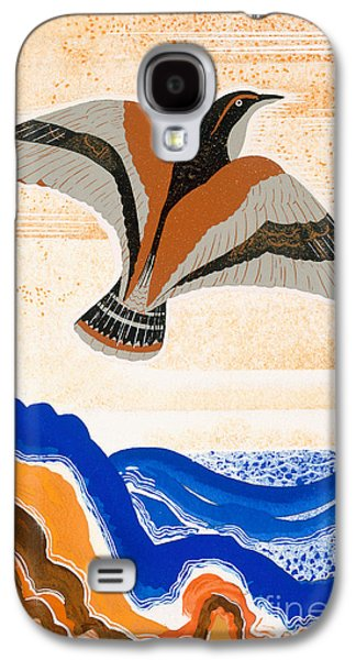 Talons Paintings Galaxy S4 Cases - Odyssey illustration  Bird of Potent Galaxy S4 Case by Francois-Louis Schmied