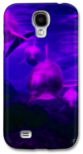 Dolphin Digital Art Galaxy S4 Cases - Odyssey v1 Galaxy S4 Case by Wingsdomain Art and Photography