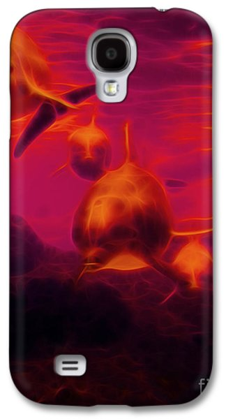 Dolphin Digital Art Galaxy S4 Cases - Odyssey v2 Galaxy S4 Case by Wingsdomain Art and Photography