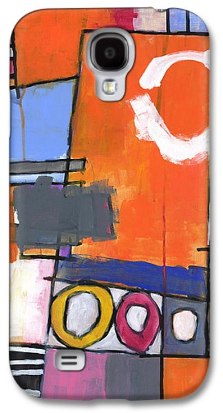 Abstractions Paintings Galaxy S4 Cases - Off the Beaten Track Galaxy S4 Case by Douglas Simonson