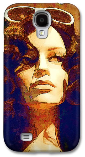 The Hills Mixed Media Galaxy S4 Cases - Off to the Races Galaxy S4 Case by Chuck Staley