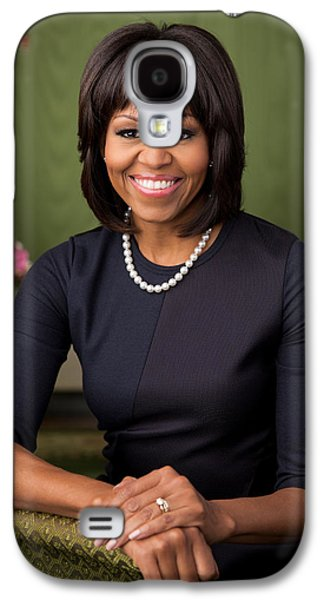 Michelle Obama Paintings Galaxy S4 Cases - Official portrait of First Lady Michelle Obama Galaxy S4 Case by Celestial Images