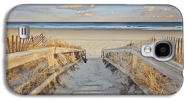 Maine Beach Galaxy S4 Cases - Ogunquit Beach Boardwalk Galaxy S4 Case by Katherine Gendreau