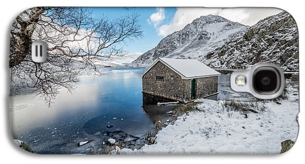 Winter Digital Art Galaxy S4 Cases - Ogwen Boat House Galaxy S4 Case by Adrian Evans