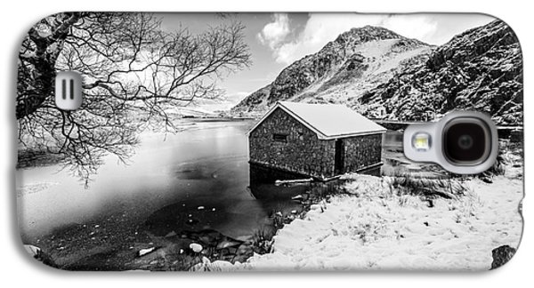Winter Digital Art Galaxy S4 Cases - Ogwen Boat House v2 Galaxy S4 Case by Adrian Evans
