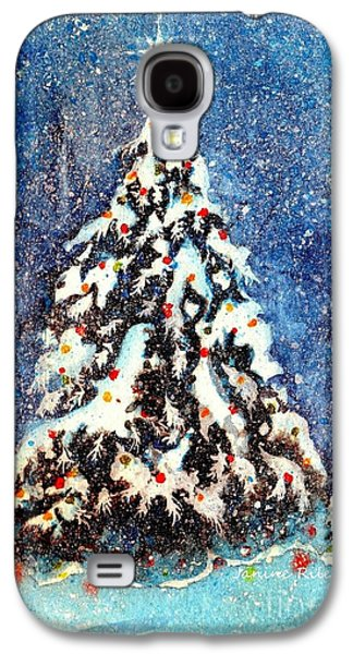 Star Of Bethlehem Galaxy S4 Cases - Oh Christmas Tree Galaxy S4 Case by Janine Riley