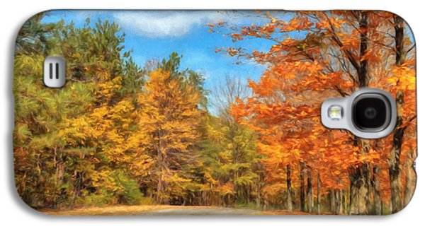 Autumn Landscape Digital Art Galaxy S4 Cases - Oh Happy Day Galaxy S4 Case by Lois Bryan