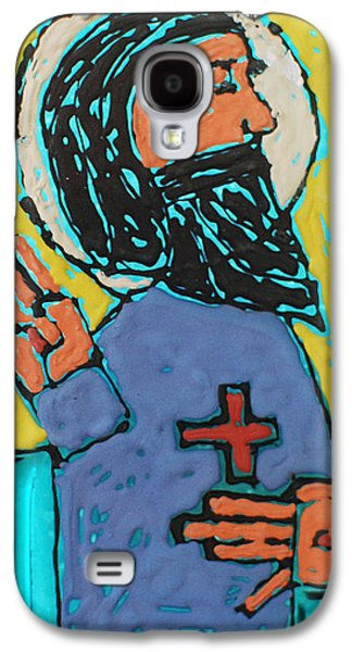 Religious Glass Art Galaxy S4 Cases - Oh JESUS  Galaxy S4 Case by Art Mantia