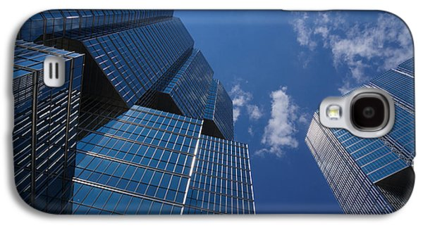Business Galaxy S4 Cases - Oh So Blue - Downtown Toronto Skyscrapers Galaxy S4 Case by Georgia Mizuleva