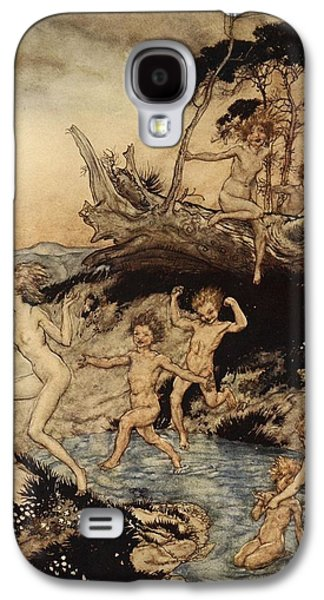 Oh What A Good Time Was That Galaxy S4 Case by Arthur Rackham