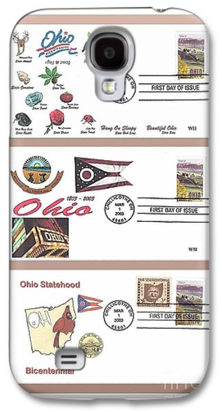 Recently Sold -  - First Lady Galaxy S4 Cases - Ohio Bicentennial First Day Covers Galaxy S4 Case by Charles Robinson
