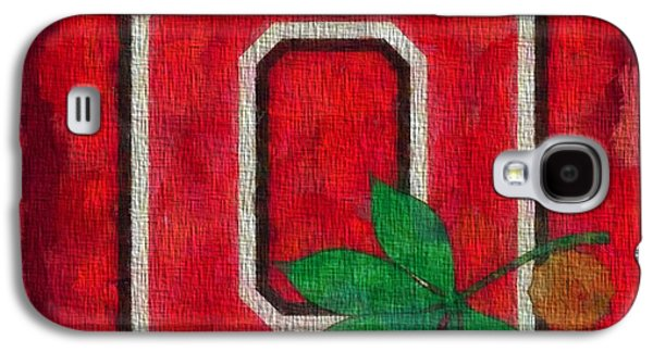 Ohio State Buckeyes On Canvas Galaxy S4 Case by Dan Sproul